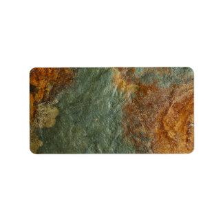 Stone Background - Slate Rock Customized Template Label