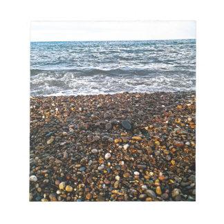 Stone beach notepad