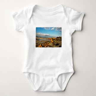 Stone beach on the island Pag in Croatia Baby Bodysuit