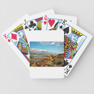 Stone beach on the island Pag in Croatia Bicycle Playing Cards