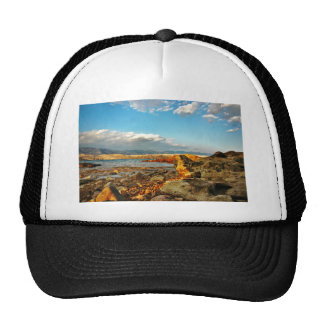 Stone beach on the island Pag in Croatia Cap