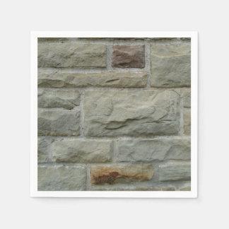 Stone Block Wall Disposable Napkin