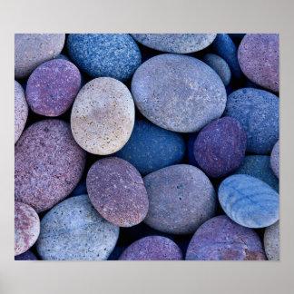 Stone blue rocks poster