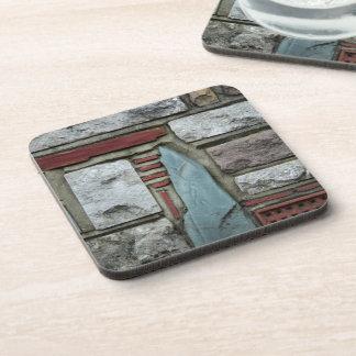 Stone Brick Print Cork Coaster