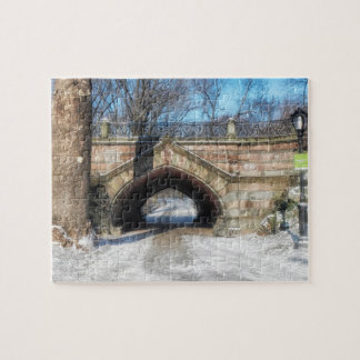 Stone Bridge - Central Park in Winter Puzzles
