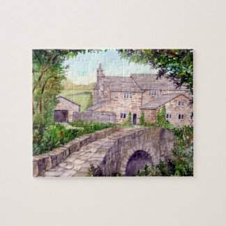 Stone Bridge Watercolor Painting Jigsaw Puzzle