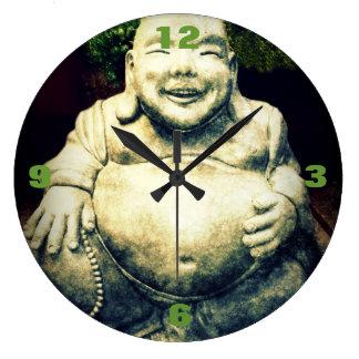 Stone Buddha Belly Ornament Large Clock