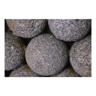 Stone Cannonballs 36'' x 24'' Photo Print