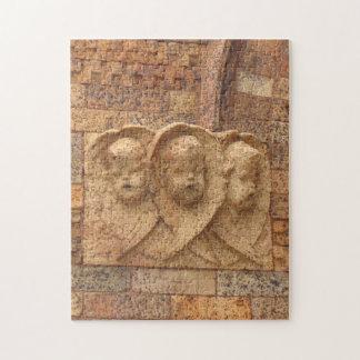 Stone Citizens three granite infants Jigsaw Puzzle