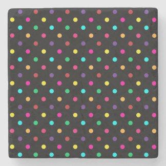 Stone Coaster Polka Dots
