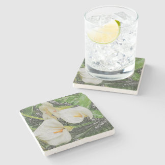 STONE COASTERS WITH CALLA LILY/DIG.EFFECTS STONE COASTER