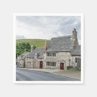 Stone cottages in England Disposable Serviette