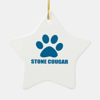 STONE COUGAR CAT DESIGNS CERAMIC ORNAMENT