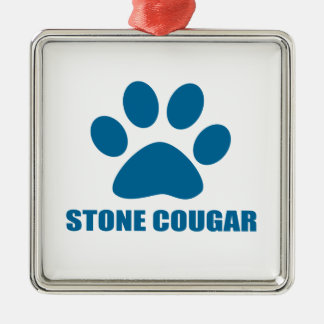 STONE COUGAR CAT DESIGNS METAL ORNAMENT