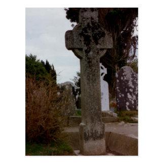 Stone Cross Glendalough Wicklow Ireland Post Card