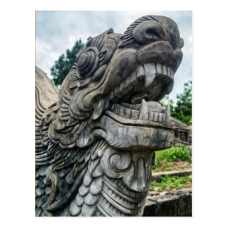 Stone Dragon, Hue Graveyard, Vietnam Postcard