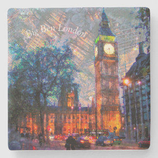 Stone Drink Coasters-Big Ben London Stone Coaster