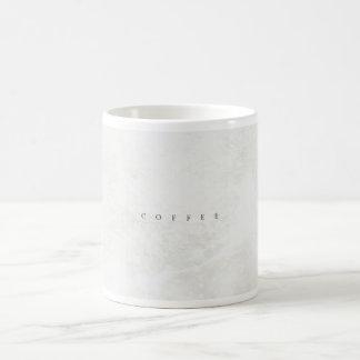 Stone effect classic 'Coffee' mug (white)