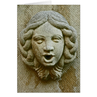 Stone Face Note Card