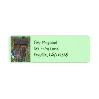 Stone Fairy Cottage Return Address Label