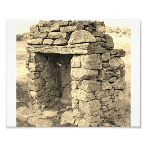 Stone Fire place remains standing Art Photo