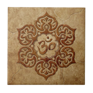 Stone Floral Aum Design Ceramic Tile
