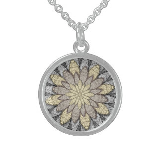Stone Flowers Sterling Silver Necklace
