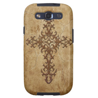 Stone Gothic Cross Samsung Galaxy S3 Case