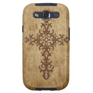 Stone Gothic Cross Samsung Galaxy S3 Case