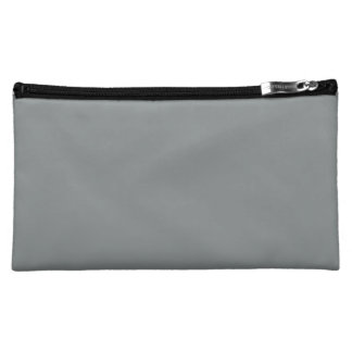 Stone Gray Personalized Grey Color Background Makeup Bags
