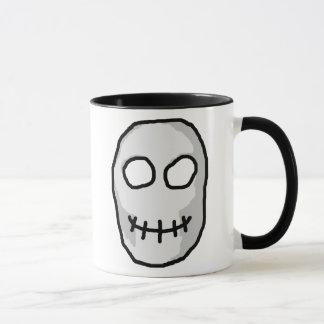 Stone Grey and Black Skull. Primitive Style. Mug