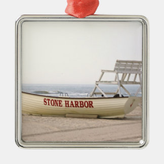 Stone Harbor Lifeguard Boat Ornament