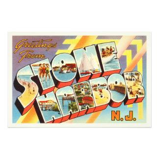 Stone Harbor New Jersey NJ Old Vintage Postcard- Photo Art