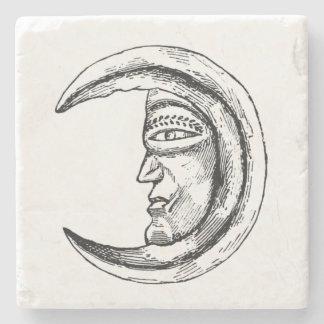 Stone Hilal Crescent Moon Black Stone Coaster