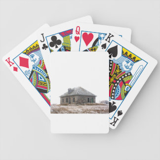 Stone Home abandoned on the prairies Bicycle Playing Cards