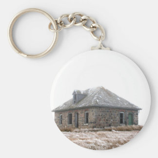 Stone Home abandoned on the prairies Key Ring