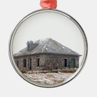 Stone Home abandoned on the prairies Metal Ornament