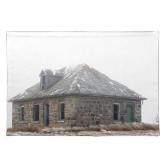 Stone Home abandoned on the prairies Placemat