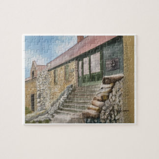 STONE HOUSE ,   WATERCOLOR JIGSAW PUZZLE