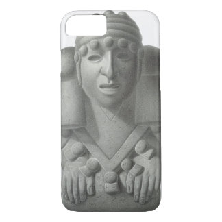 Stone idol of the Rain God Cocijo, plate from 'Anc iPhone 7 Case