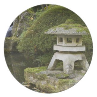 Stone lantern and Heavenly Falls Plates
