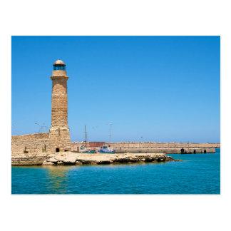 Stone lighthouse postcard