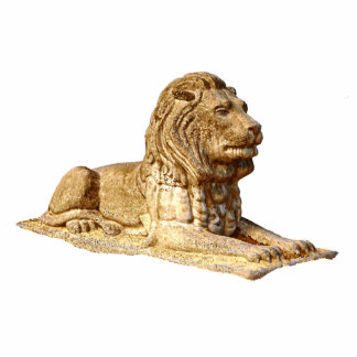 Stone Lion Photo Sculpture Magnet