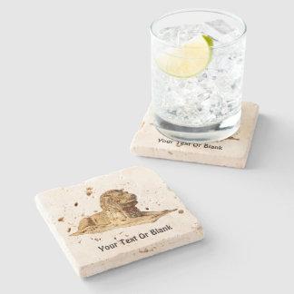 Stone Lion Stone Beverage Coaster