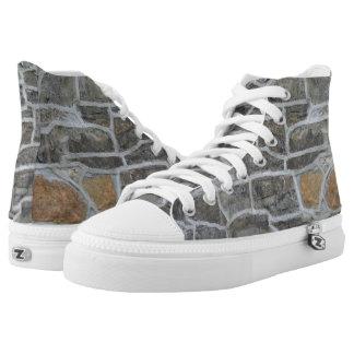 Stone Looking Hi Tops Printed Shoes