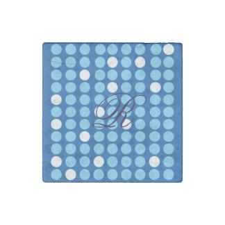 Stone Magnet Polka Dot With Monogram