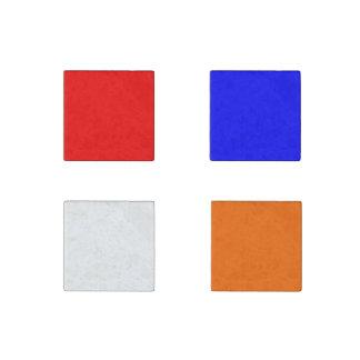 Stone Magnet Red-White-Blue-Orange