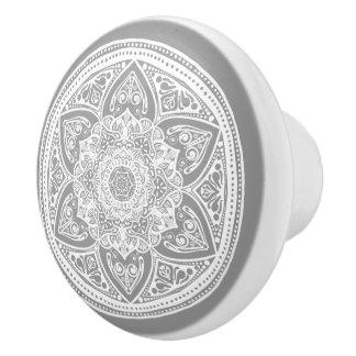 Stone Mandala Ceramic Knob
