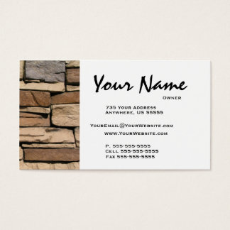 Stone Masonry Business Cards