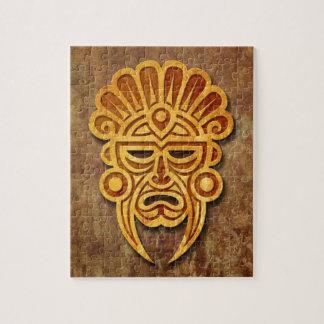 Stone Mayan Mask Jigsaw Puzzle